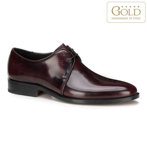 Мужские туфли дерби из лакированной кожи, бордовый, BM-B-589-2-45_5, Фотография 1