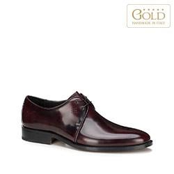 Мужские туфли дерби из лакированной кожи, бордовый, BM-B-589-2-45, Фотография 1