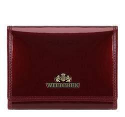 Женский кошелек из лакированной кожи среднего размера, бордовый, 25-1-070-9, Фотография 1