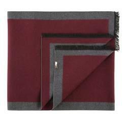 Шарф мужской, бордовый - серый, 83-7M-S40-X6, Фотография 1