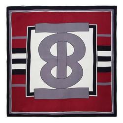 Шелковый шарф маленький, бордовый - серый, 91-7D-S14-X5, Фотография 1