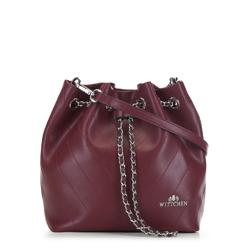 Женская кожаная сумка, бордовый, 91-4E-607-2, Фотография 1