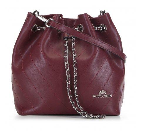 Женская кожаная сумка, бордовый, 91-4E-607-9, Фотография 1