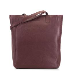 Женская кожаная сумка-шоппер, бордовый, 91-4E-300-2, Фотография 1