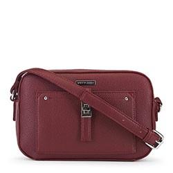 Женская сумка через плечо на тонком ремешке, бордовый, 91-4Y-401-2, Фотография 1