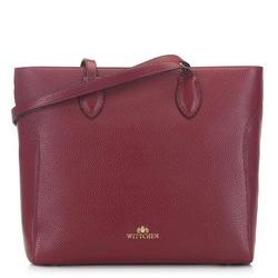 Классическая сумка-шоппер из зернистой кожи, бордовый, 91-4-704-3, Фотография 1