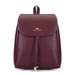Женский кожаный рюкзак с ремешками, бордовый, 93-4E-627-2, Фотография 1
