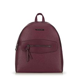 Женский рюкзак с декоративной вставкой, бордовый, 92-4Y-203-2, Фотография 1