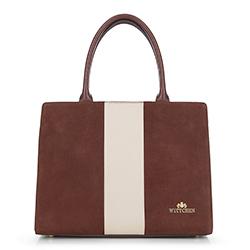 Einkaufstasche, braun-beige, 90-4E-602-5, Bild 1