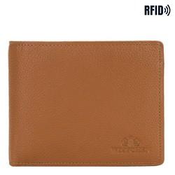 Mittelgroße ausklappbare Lederbrieftasche für Herren, braun, 02-1-040-5L, Bild 1
