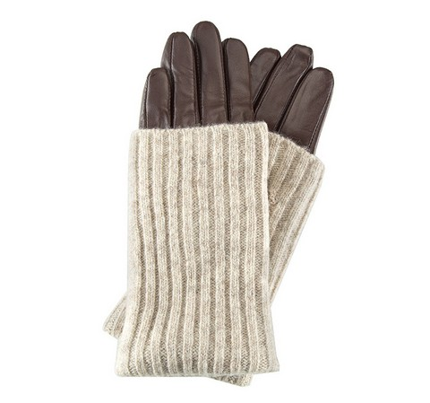 Damenhandschuhe, braun, 39-6-526-B-V, Bild 1