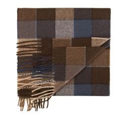 Schal, braun-dunkelblau, 85-7M-W03-X2, Bild 1