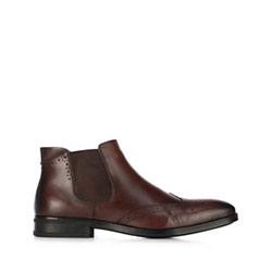 Chelsea Boots für Herren mit perforiertem Leder, braun, 91-M-913-4-44, Bild 1