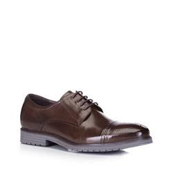 Herren-Derby-Schuhe aus Leder mit durchbrochenem Medaillon, braun, 88-M-922-4-45, Bild 1