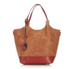 Einkaufstasche, braun-rot, 87-4Y-751-5, Bild 1