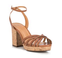 Sandalen für Damen, braun, 88-D-708-4-37, Bild 1