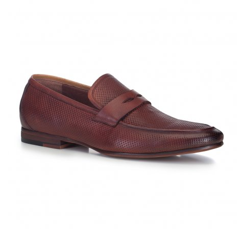 Férfi cipő, sötét vörös, 88-M-900-5-44, Fénykép 1