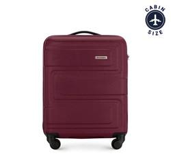 Kis bőrönd dombornyomott, sötét vörös, 56-3A-631-35, Fénykép 1