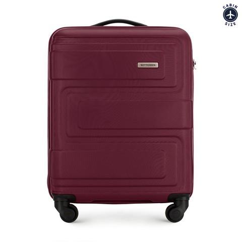 Kis bőrönd dombornyomott, sötét vörös, 56-3A-631-95, Fénykép 1