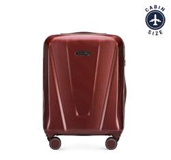 Kabinbőrönd polikarbonát geometrikus mintával, sötét vörös, 56-3P-121-35, Fénykép 1