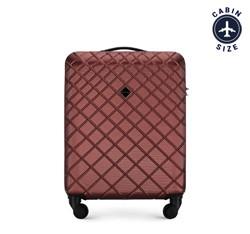 ABS bőrönd ferde rácsos, sötét vörös, 56-3A-551-30, Fénykép 1
