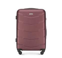 Közepes ABS bőrönd, sötét vörös, 56-3A-402-31, Fénykép 1