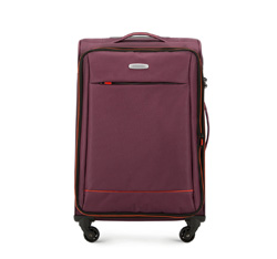 Közepes bőrönd, Burgundia, 56-3S-462-35, Fénykép 1
