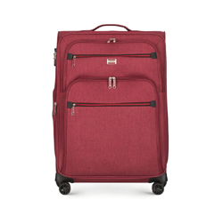 Közepes bőrönd, sötét vörös, 56-3S-502-30, Fénykép 1