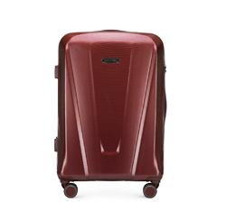 Közepes méretű polikarbonát bőrönd, sötét vörös, 56-3P-122-35, Fénykép 1