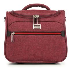 Kozmetikai táska színes cipzárral, sötét vörös, 56-3S-504-31, Fénykép 1