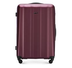 Nagy bőrönd polikarbonát anyagból, sötét vörös, 56-3P-113-35, Fénykép 1