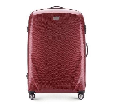 Nagy bőrönd, sötét vörös, 56-3P-573-85, Fénykép 1