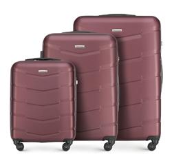 Bőrönd szett, sötét vörös, 56-3A-40S-31, Fénykép 1