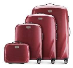 Bőröndszettek, sötét vörös, 56-3P-57K-35, Fénykép 1