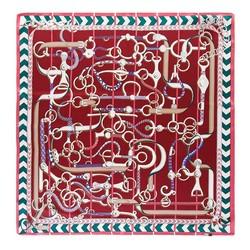 Hedvábný šátek, burgundová, 93-7D-S01-26, Obrázek 1