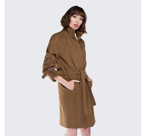 Dámský kabát, camelová, 87-9W-105-5-S, Obrázek 1