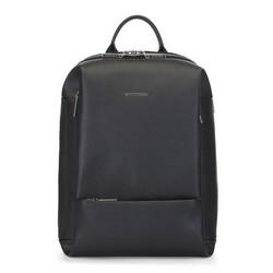 Dámský kožený batoh, černá, 91-4E-605-1, Obrázek 1
