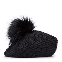 Dámská baretka, černá, 93-HF-005-1, Obrázek 1