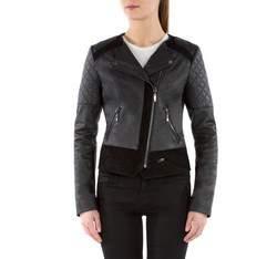 Dámská bunda, černá, 82-09-505-1-2X, Obrázek 1