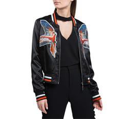 Dámská bunda, černá, 84-9N-114-1-L, Obrázek 1