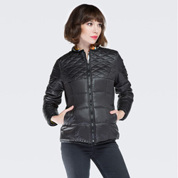 Dámská bunda, černá, 87-9N-101-1-S, Obrázek 1