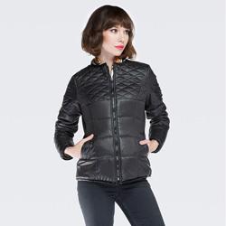 Dámská bunda, černá, 87-9N-101-1-XL, Obrázek 1