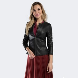 Dámská bunda, černá, 90-09-200-1-L, Obrázek 1