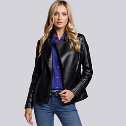 Dámská bunda, černá, 93-9P-108-1-S, Obrázek 1