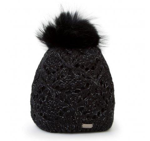 Dámská čepice, černá, 87-HF-004-1, Obrázek 1