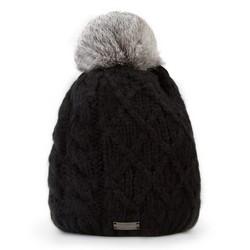 Dámská čepice, černá, 87-HF-010-1, Obrázek 1