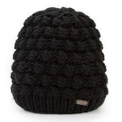 Dámská čepice, černá, 87-HF-014-1, Obrázek 1