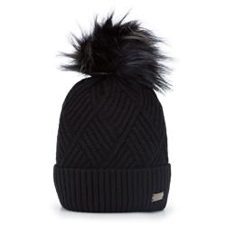 Dámská čepice, černá, 93-HF-003-1, Obrázek 1