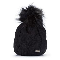 Dámská čepice, černá, 93-HF-009-1, Obrázek 1