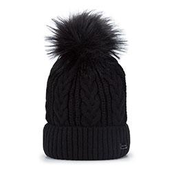 Dámská čepice, černá, 93-HF-011-1, Obrázek 1